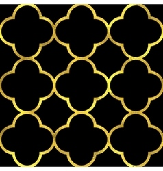 seamless pattern with golden ornament vector image vector image