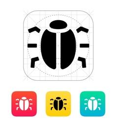 Spy bug icon vector image vector image