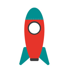 cartoon rocket or spaceship icon image vector image vector image