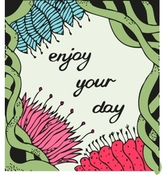 Enjoy your day Vintage background with ancient vector image