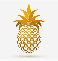 pineapple golden fruit design element tropical vector image
