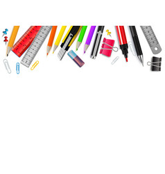 stationery realistic background vector image