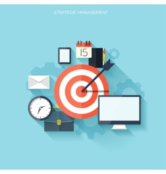 Target flat icon Development concept New ideas vector image