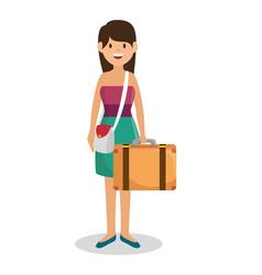 tourist woman traveler avatar vector image