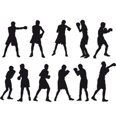 Boxing Kids vector image