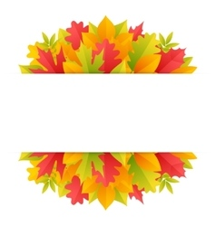 Colorful Autumn Background with Leaves vector image vector image
