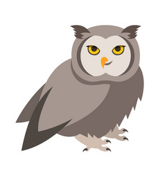 cute smiling owl cartoon vector image vector image
