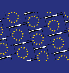grunge european union flag or banner vector image