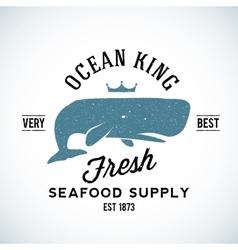 Ocean King Seafood Supplyer Vintage Logo vector image vector image