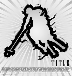 polo silhouette break through white background vector image