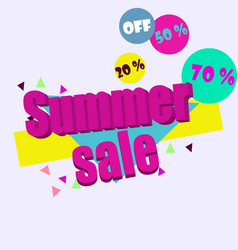 summer sale banner template background vector image vector image
