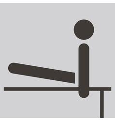 2273 Gymnastics Artistic icon vector image