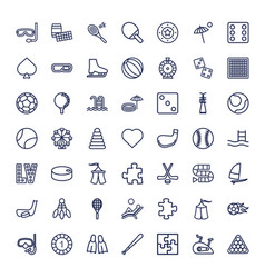 49 leisure icons vector