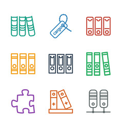 9 order icons vector image