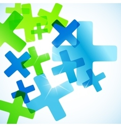 Abstract background cross vector