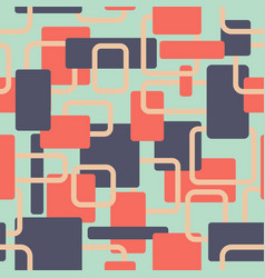 Abstract squares seamless vitage red and vector