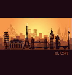 abstract urban landscape with sights europe vector image