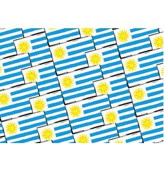 Abstract uruguay flag or banner vector