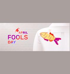 April fools fish composition vector