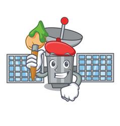 Artist satelite character cartoon style vector