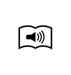 Audio newspaper flat icon vector