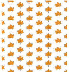 autumn leafs seamless background vector image