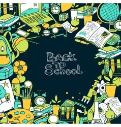 Back To School Frame vector image