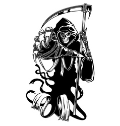 Black death with scythe vector image