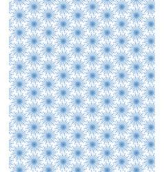 Blue simple flowers seamless pattern vector