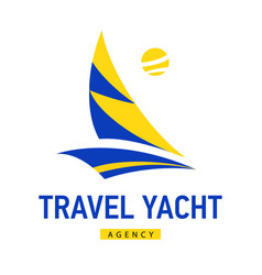 bright blue speed boat sign design modern logos vector image