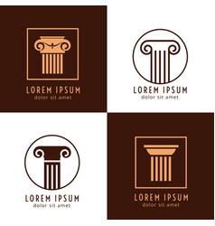 Business corporate identity with columns ancient vector