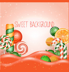 candy land background vector image