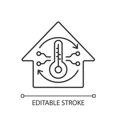 central conditioning system linear icon vector image