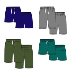 Color shorts vector image