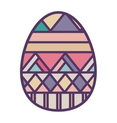 Colorful easter egg design with horizontal striped vector