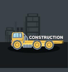 Construction trucks design vector