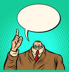 cowardly businessman business finance vector image