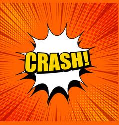 Crash wording bright template vector