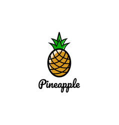 Creative artistic pineapple fruit logo symbol vector