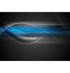 Dark abstract wavy background vector image