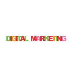 digital marketing business card text modern vector image
