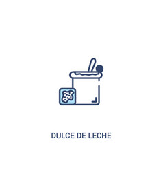 Dulce de leche concept 2 colored icon simple line vector