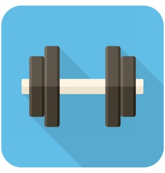 Dumbbell icon vector image vector image