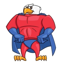 Eagle superhero posing 2 vector image
