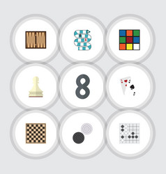flat icon entertainment set of multiplayer cube vector image