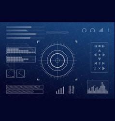 Futuristic screen vector