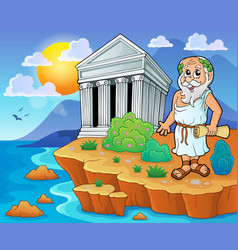 greek theme image 2 vector image
