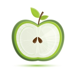 Green Apple Isolated on White Background vector image