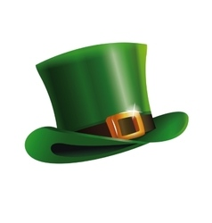 green st patrick day hat icon vector image