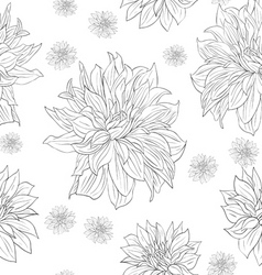 hand drawn floral wallpaper with set of different vector image